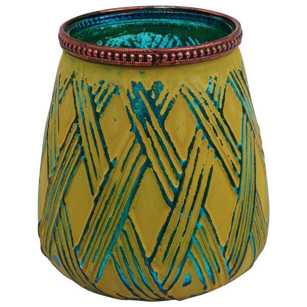 sárga váza sárga mécsestartó