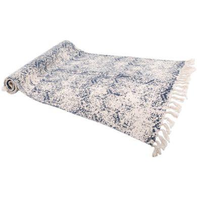 kék pamut szőnyeg vintage stílus