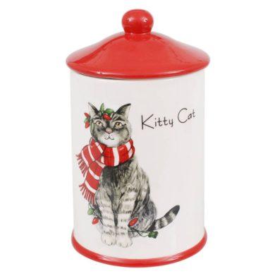 Cica mintás kerámia tároló konyhai tároló macska