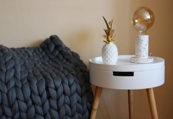 skandináv nappali beton lámpa óriásfonal takaró ananász dekoráció