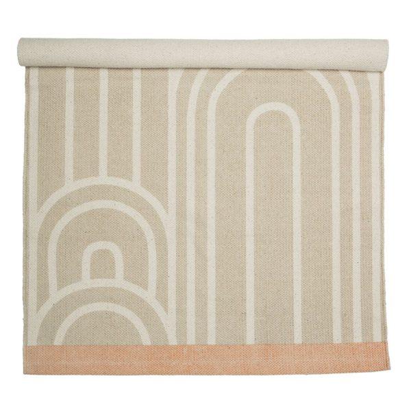 art deco natúr pamut szőnyeg