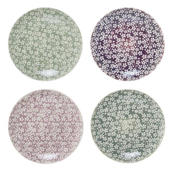 Virágmintás tányér skandináv stílus