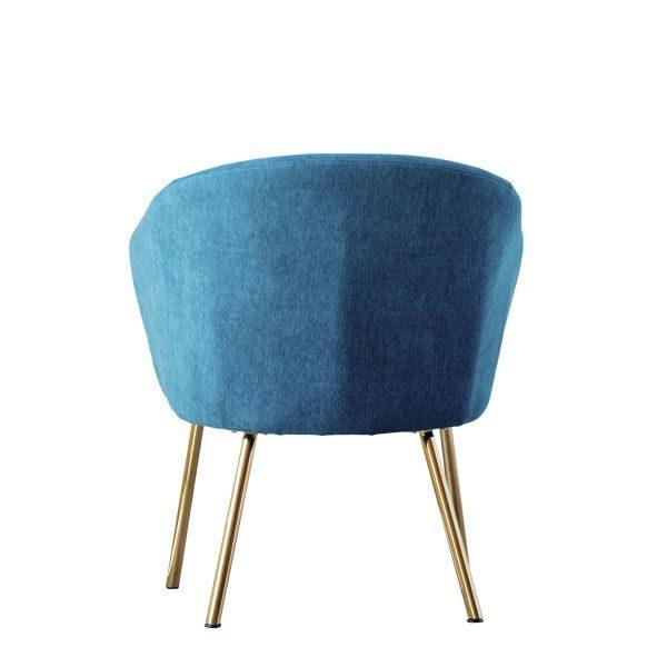 Kék bársony fotel skandináv stílusban