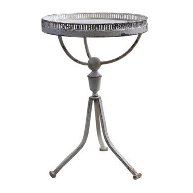 Kerti kisasztal fém shabby chic