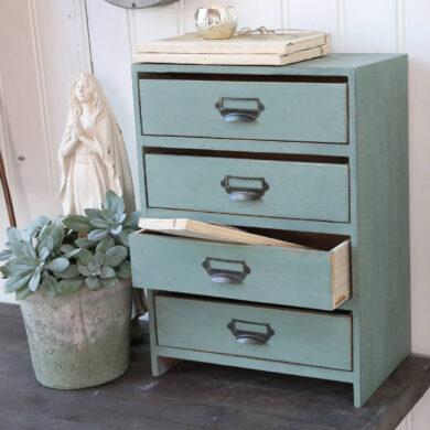 Menta zöld fiókos szekrény