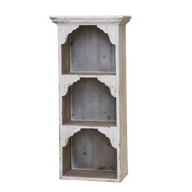 Vintage fali polc krém színű konyhai szekrény