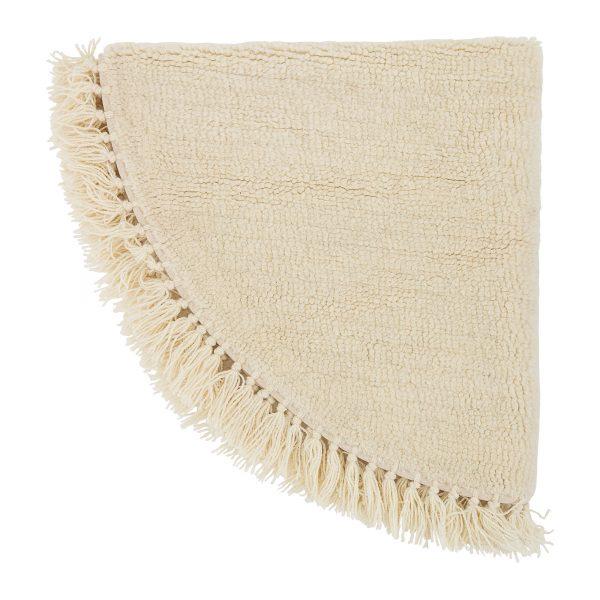 Kör alakú bézs gyapjú szőnyeg