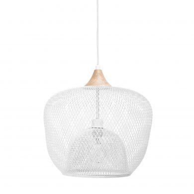 Fehér fém mennyezeti lámpa