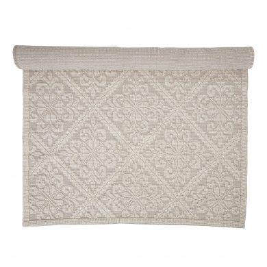 Mintás fehér pamut szőnyeg