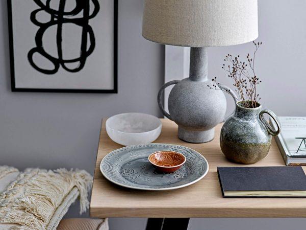 Szürke terrakotta asztali lámpa