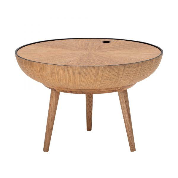 Kör alakú tölgy dohányzó asztal