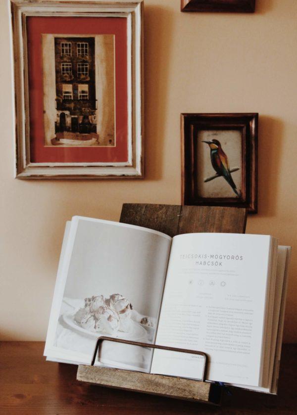 Szakácskönyv tartó állvány rusztikus vintage vidéki konyha