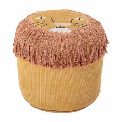 Gyerekszobai puff oroszlán minta