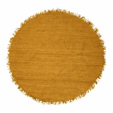 Kör alakú sárga juta szőnyeg
