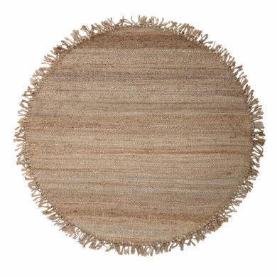 Kör alakú natúr juta szőnyeg