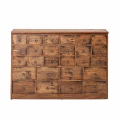 Mangó fa fiókos szekrény