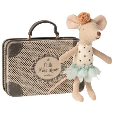 Egér táncoslány bőrönddel Maileg
