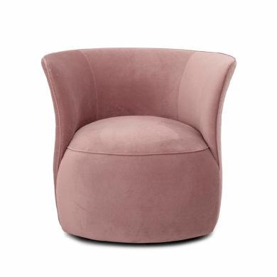 Púderrózsaszín bársony fotel