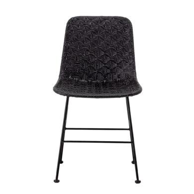 Fekete rattan szék