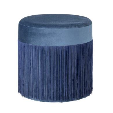 Kék bársony puff