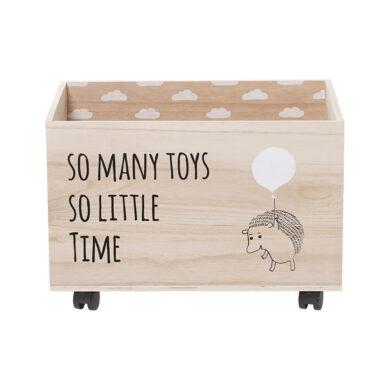 Tároló doboz gyerekszobába kerekekkel