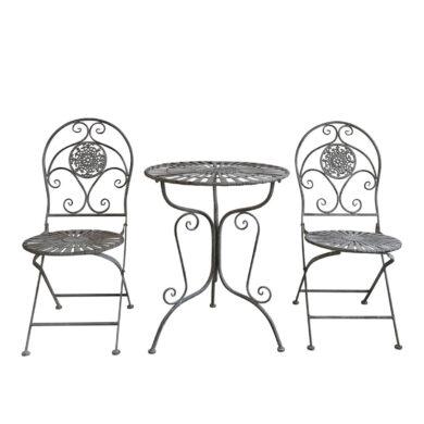 Romantikus kerti asztal szett shabby chic stílus