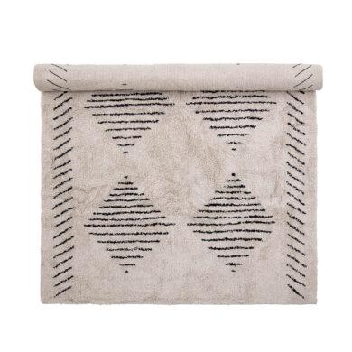 Rombusz csíkos pamut szőnyeg skandináv stílus