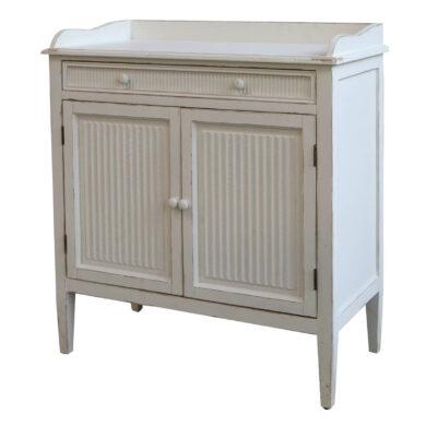 Vintage fehér kabinetszekrény