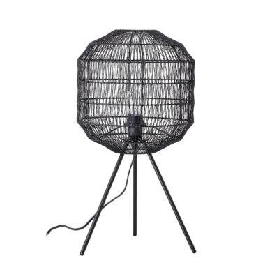 Fekete fém asztali lámpa skandináv stílus