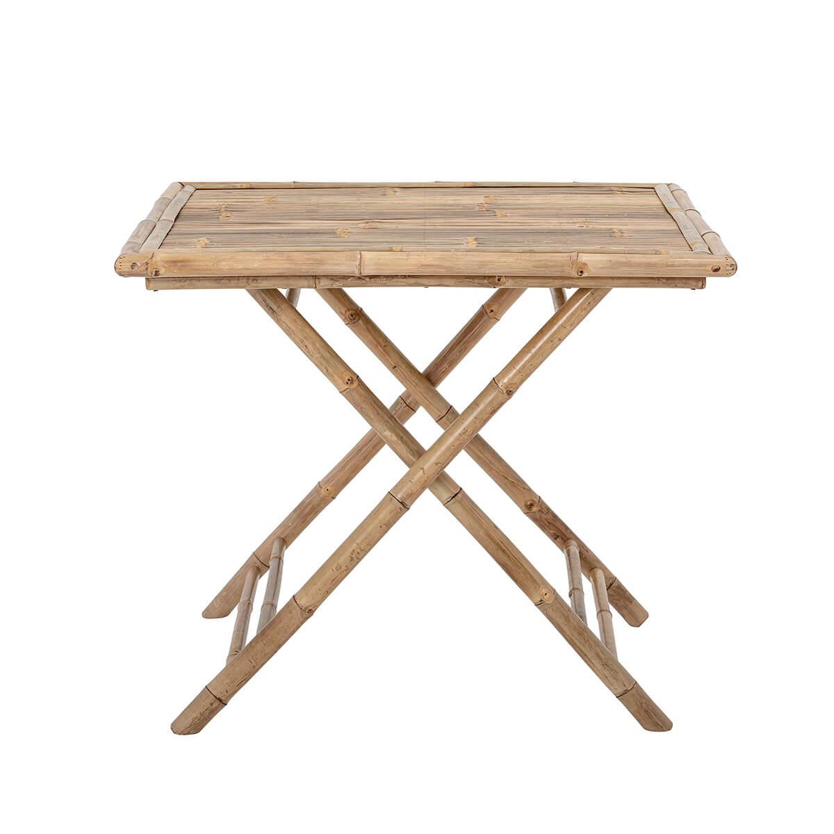 Bambusz asztal teraszra vagy reggelizéshez természetes skandináv bútor