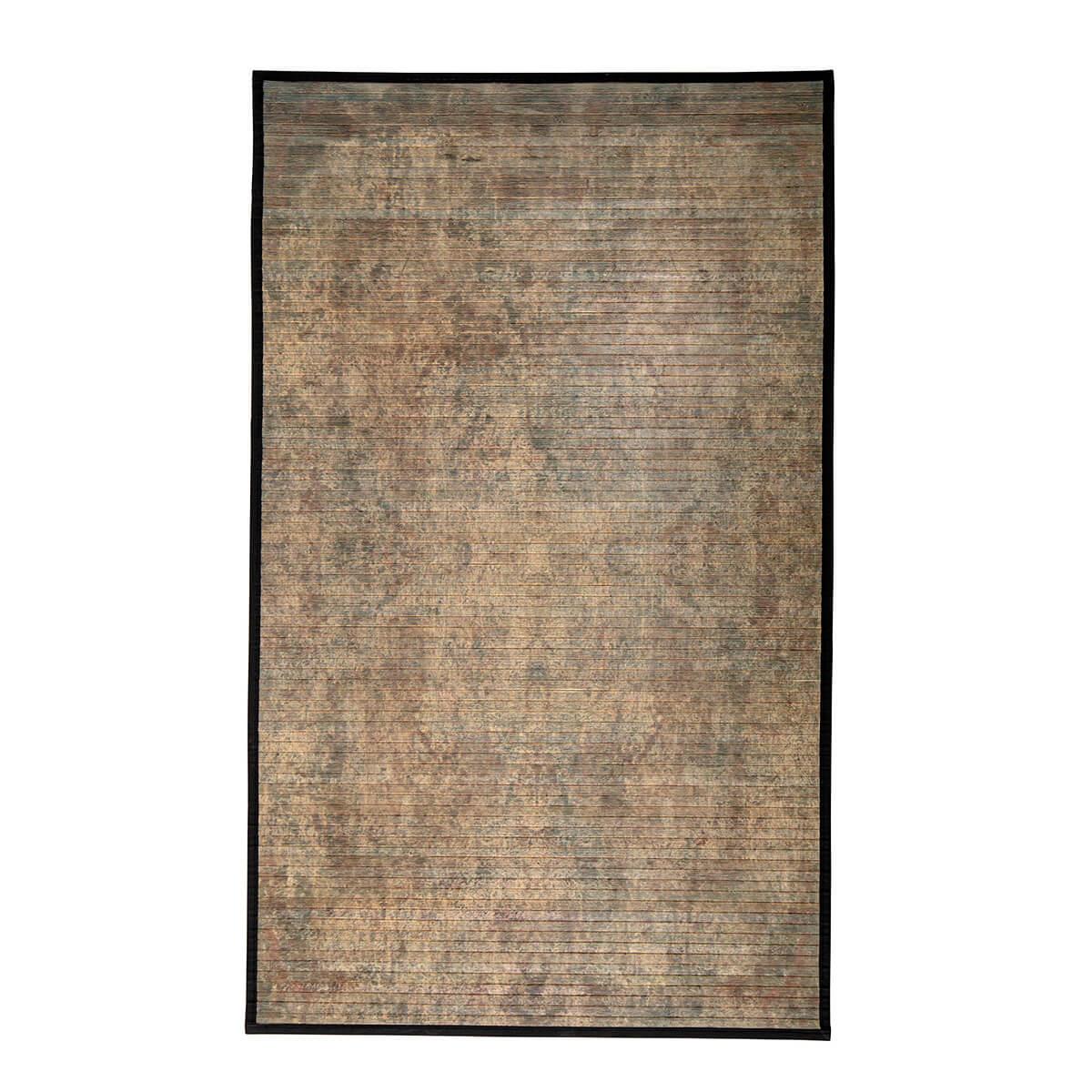 Barna bambusz szőnyeg természetes skandináv textil