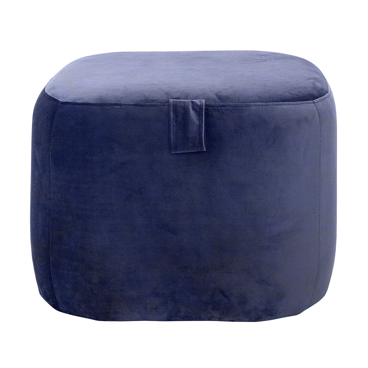 Kék puff minimalista skandináv lakberendezés