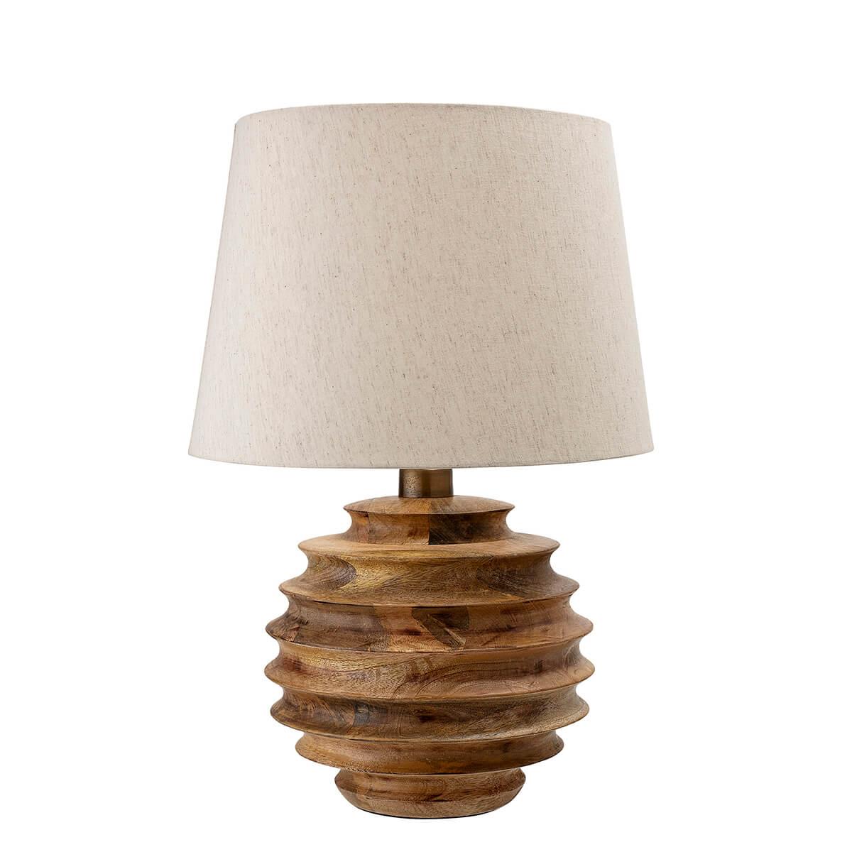 Mangó fa asztali lámpa skandináv stílus