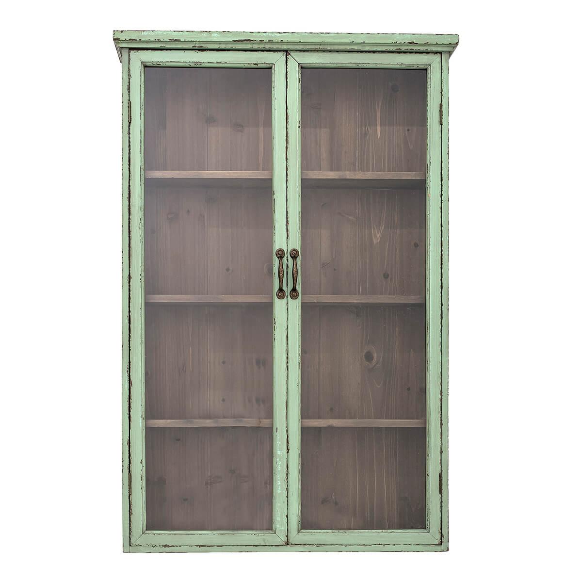 Menta zöld fenyő szekrény vintage hangulat skandináv stílus