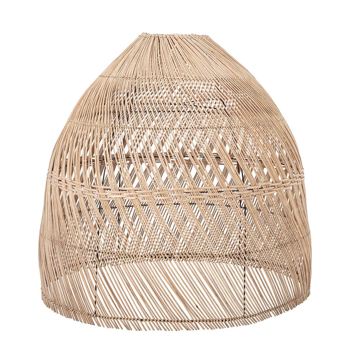 Rattan lámpabúra természetes skandináv design