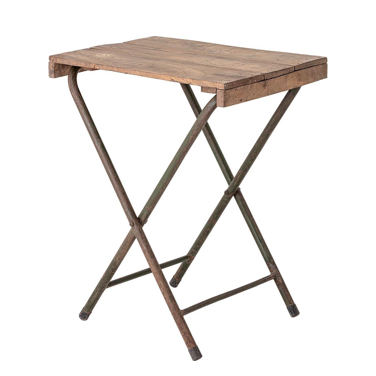Összecsukható asztal újrahasznosított fából skandináv kiegészítő