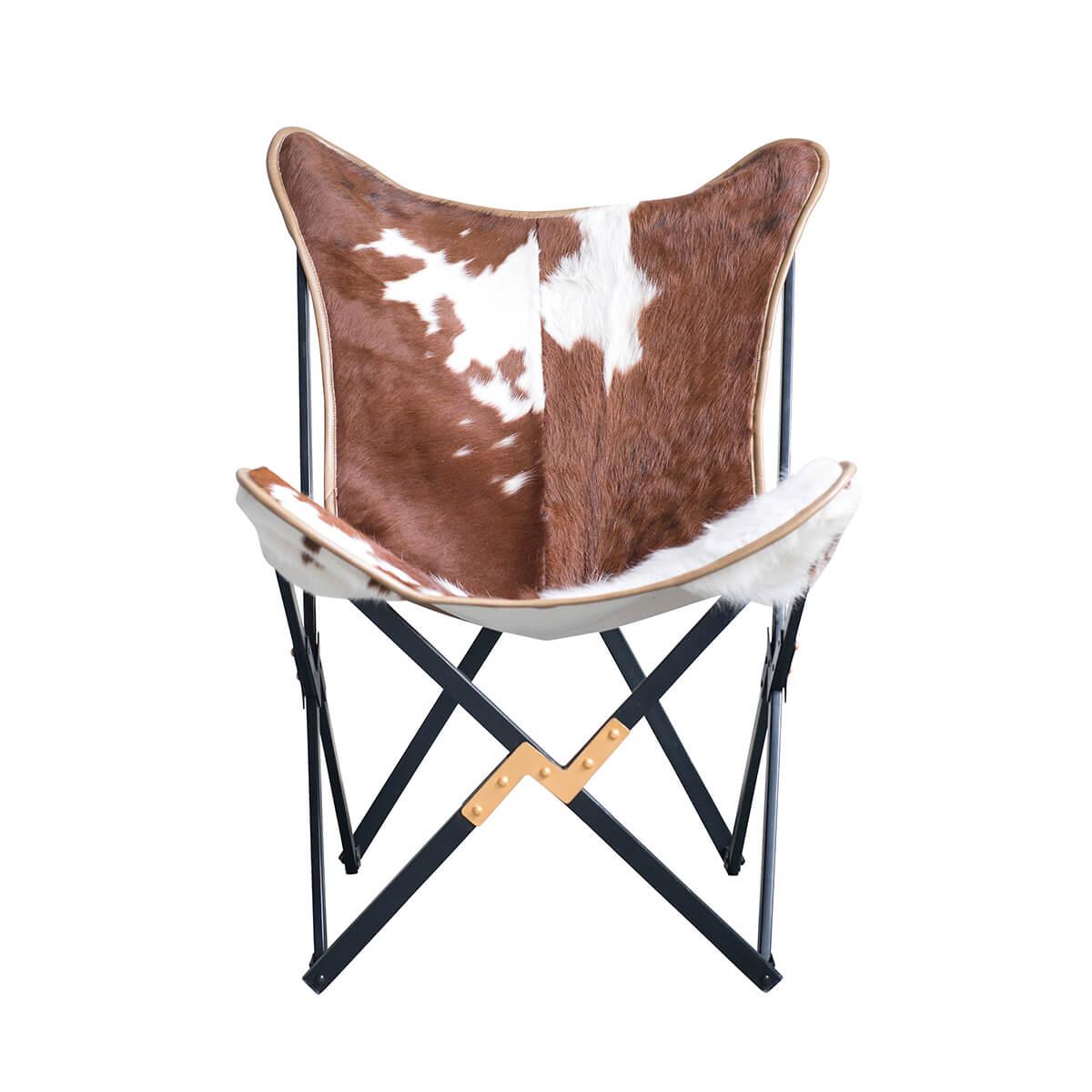 Tehénbőr fotel összecsukható szék