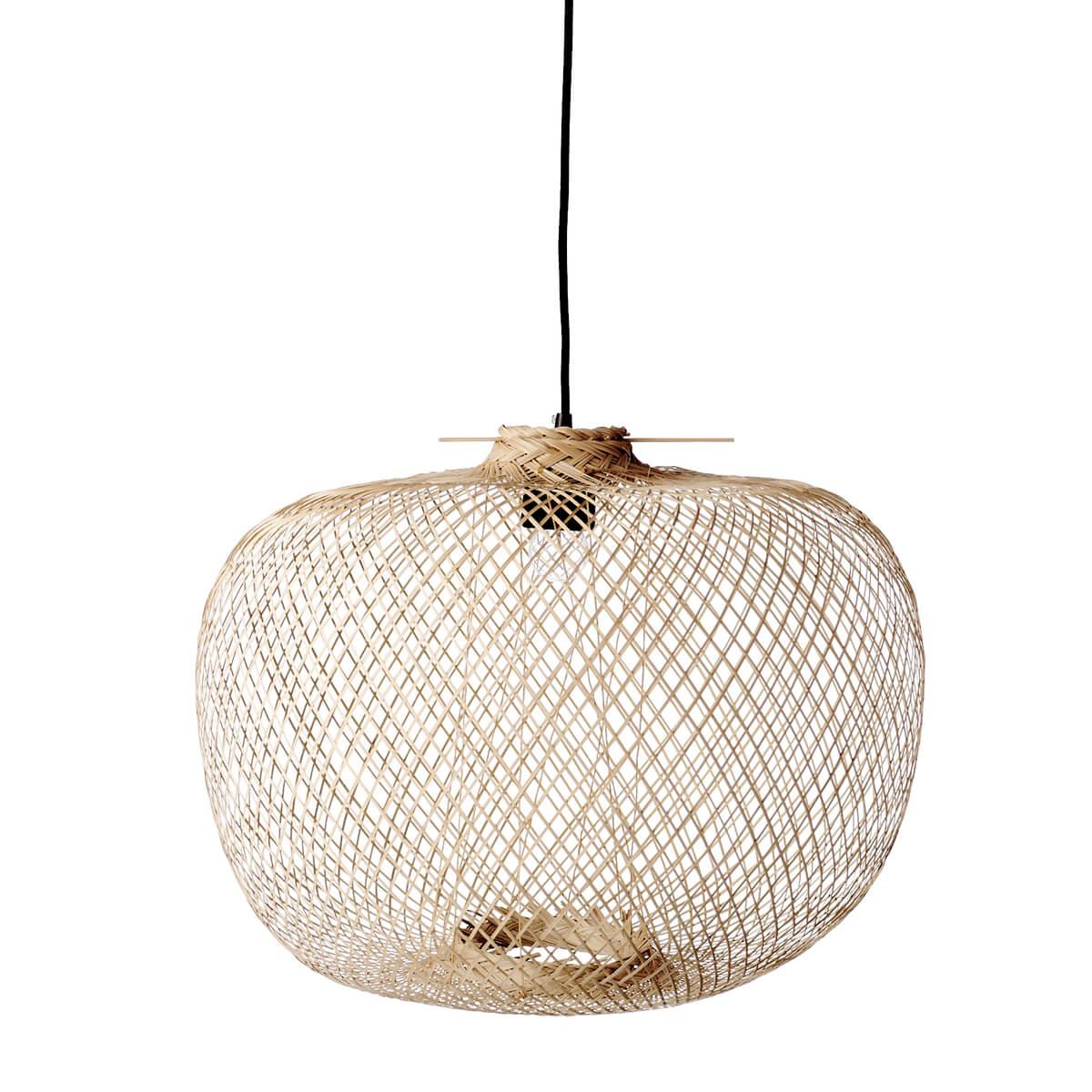 Bambusz függőlámpa skandináv stílus természetesség minimalista megjelenés