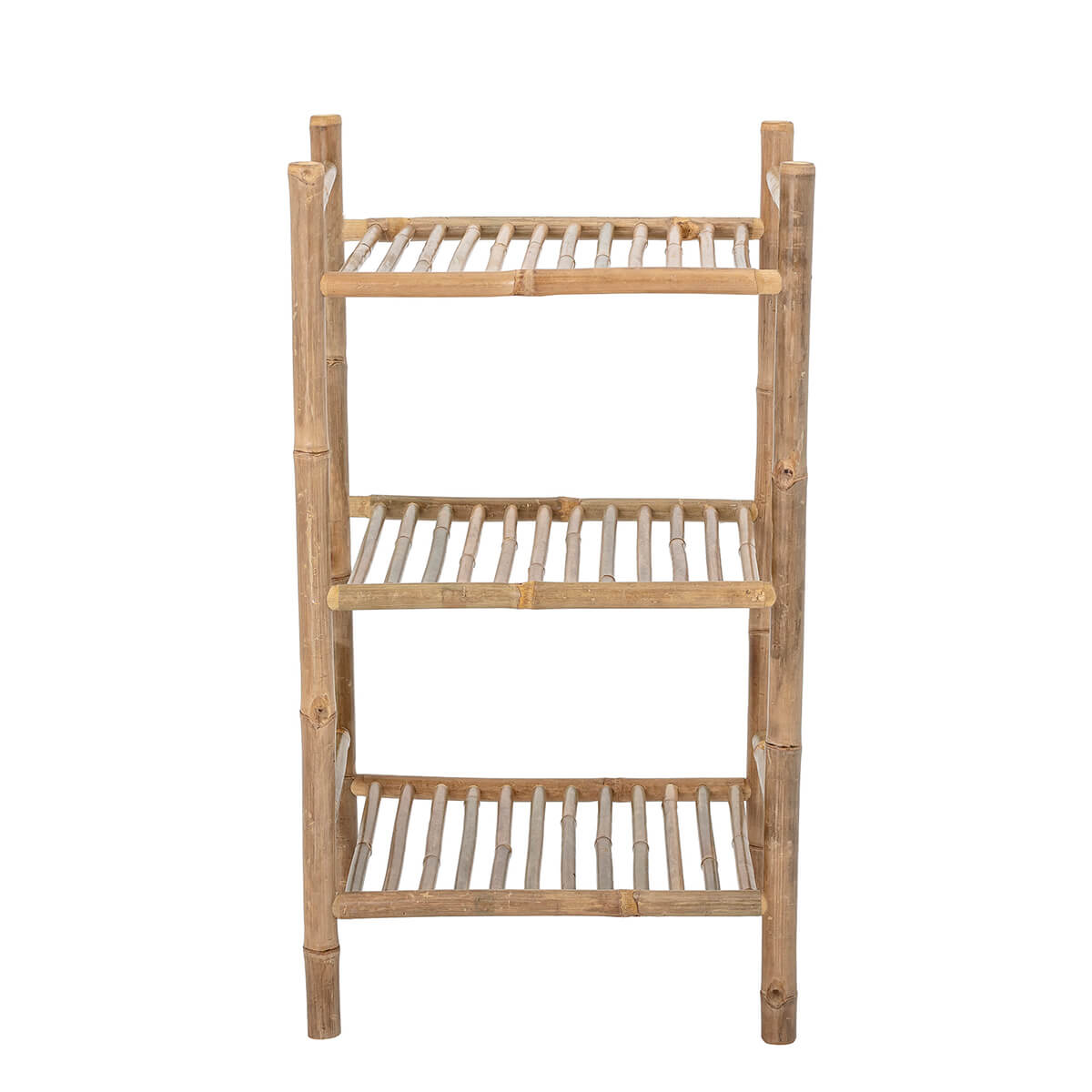 Bambusz polcos szekrény három polccal